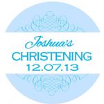 Personalised Boy Christening Sticker Design 7